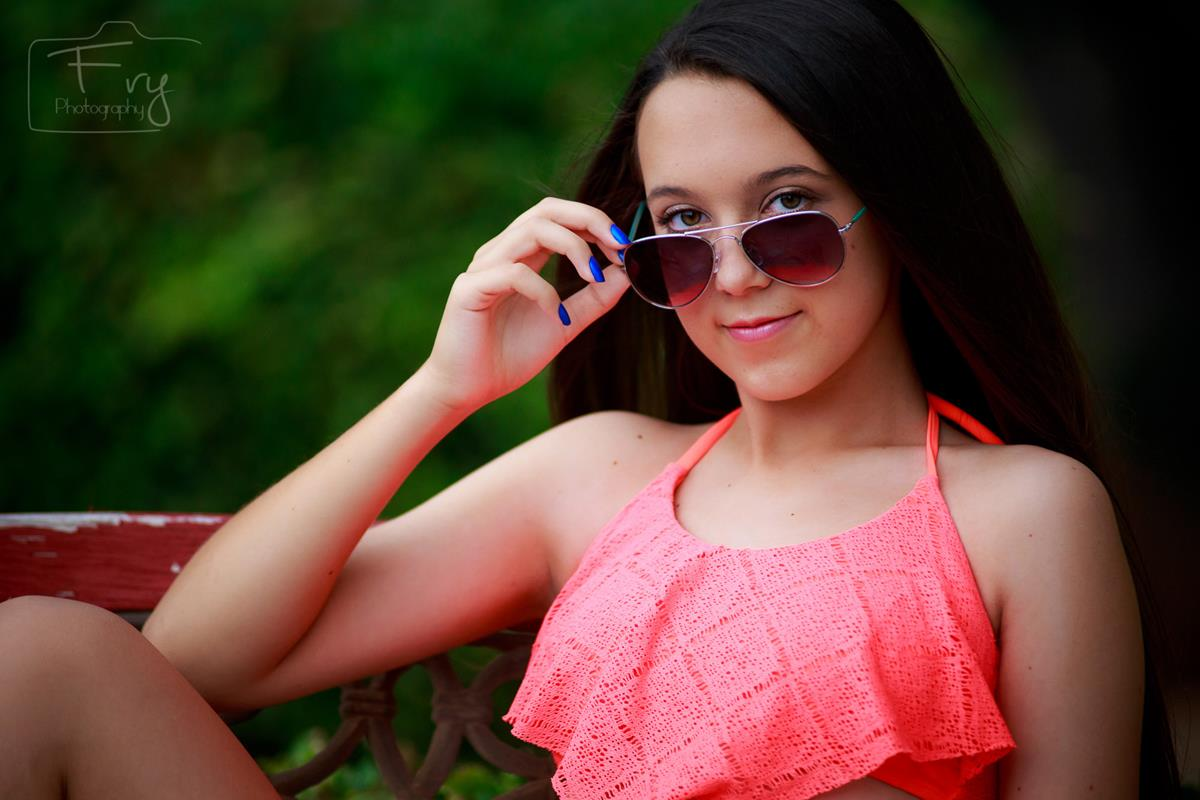 Tween Glamour Photography in an Oklahoma City park